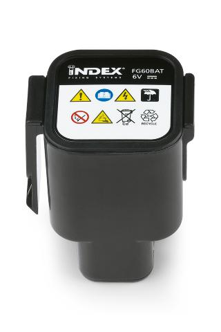 INDEX Fixing Systems. FG-BAT Batería para pistola FP60GUN