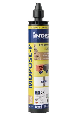 INDEX Fixing Systems - MOPOSE-P Poliéster sin estireno. Color piedra. Homologado ETE Opción 7