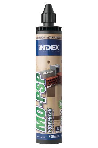 INDEX Fixing Systems - MO-PSP Polyester sin estireno. Piedra
