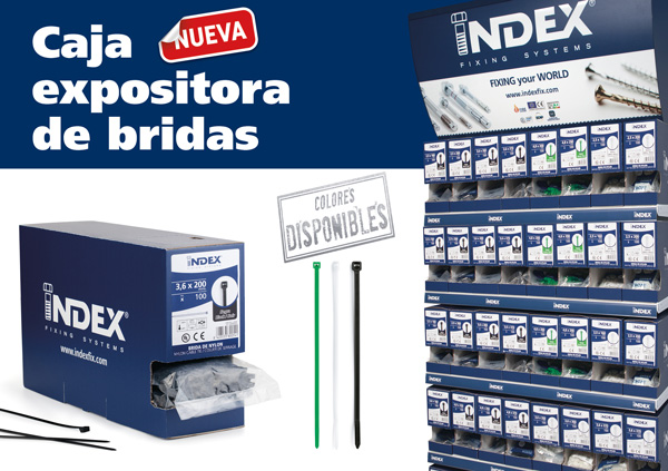 INDEX Fixing Systems presenta su nuevo formato de venta para bridas