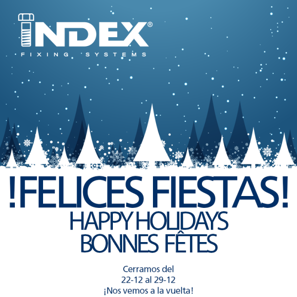 INDEX Fixing Systems wish you Happy Holidays and a Happy New Year