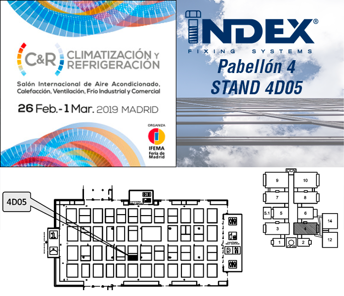 INDEX Fixing Systems will be exhibiting at the HVAC AND REFRIGERATION -C&R- 2019 Fair.