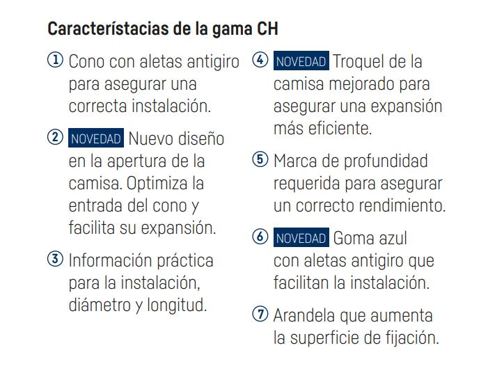 Características de la gama GH