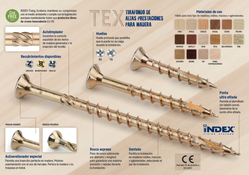 HIGH-PERFORMANCE CHIPBOARD SCREW FOR WOOD