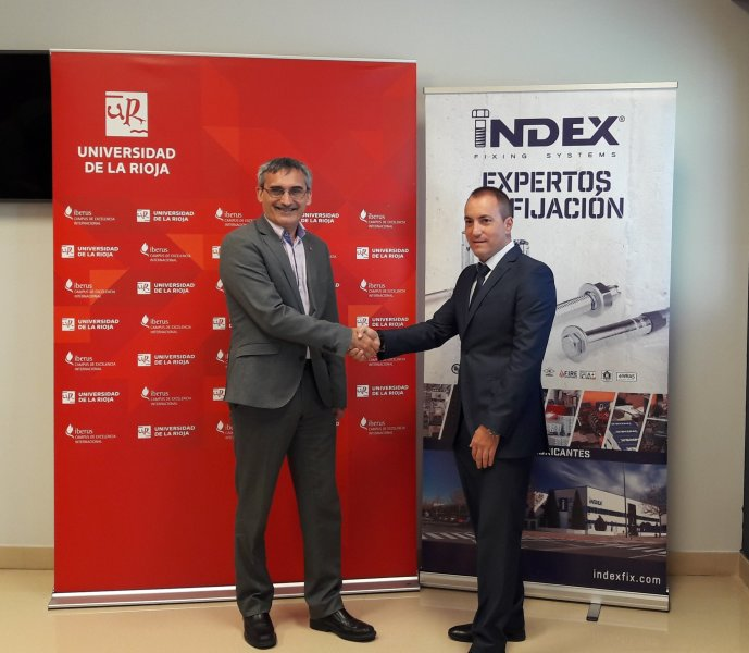 We closed an agreement with the University of La Rioja in which INDEX Fixing Systems will host trainees and grant aid to Master students.